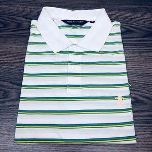 Polo Ralph Lauren White Stripe Polo Shirt XL